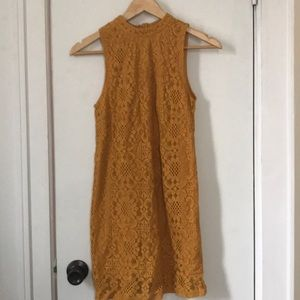 Dresses & Skirts - NEVER WORN YELLOW EMBROIDERY DRESS
